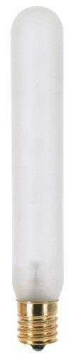 130 Volt T10 Medium Screw - Satco S3225 130V Intermediate Base 40-Watt T6.5 Light Bulb, Frosted