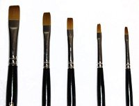 Loew Cornell Golden Taklon 5 Piece Shader Brush Set, 7300 Series by Loew-Cornell