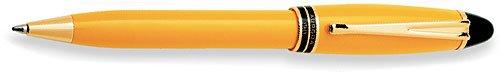 Aurora Ipsilon Resin Yellow Ballpoint Pen - - Ballpoint Aurora Pen