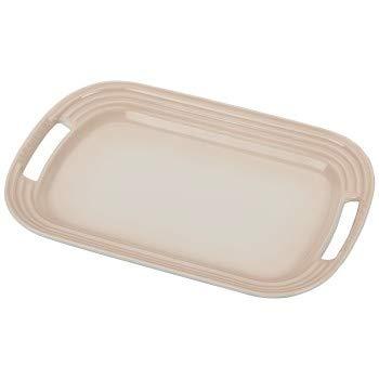 Le Creuset Meringue Stoneware 14 Inch Oval Serving Platter