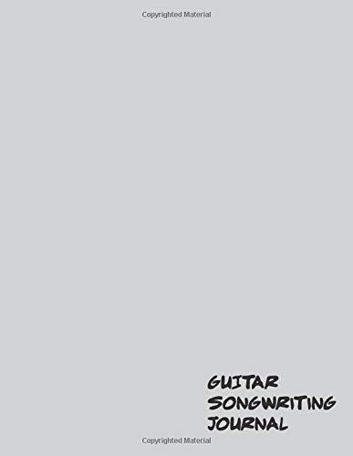 Guitar Songwriting Journal Staff lined paper for guitarists, songwriters, musicians, composers [Publishing, Sonata] (Tapa Blanda)