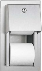 ASI 0031 Semi-Recessed Dual Roll Toilet Tissue Dispenser