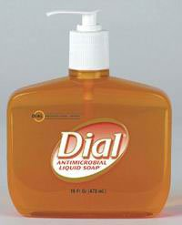 DIL Dial Soap Liq A/M w/Moist & VIT E 7.5oz Decor Pump Cs/12