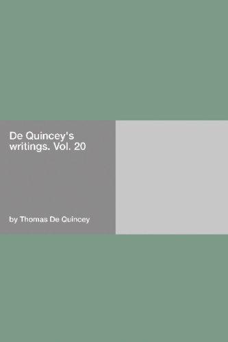 Read Online De Quincey's Writings PDF