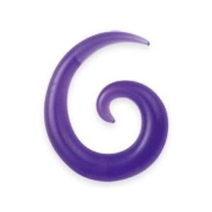 ZIPA - Piercing Dilatador de Oreja Mixto Violeta Espiral Color - Grosor: 14 mm Acrílico - Vendido por unidad: ZIPA: Amazon.es: Joyería