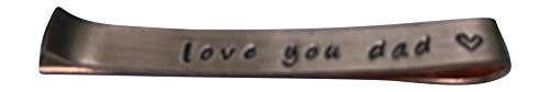 Hand Trades Love You dad Tie Clip - Copper - Wedding Gift-Groomsman Gift- Father of The Bride-Gifts for dad by Hand Trades