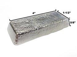 RotoMetals Whole Tin Ingot 99.9+% Pure by Roto Metals