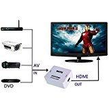 AV to HDMI Converter 1080P/720P Upscaler for HDTV/TV/PC/PS3/Xbox one/Blue-Ray DVD/DVR (Dvd Dvr Recorder)