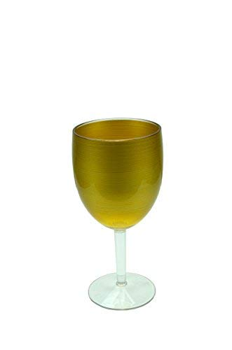 Waverly Avalon Series Indoor Outdoor Durable Plastic Food and Drink Serving Pieces Perfect All Year Round (15.20 Ounce Wine Glass -