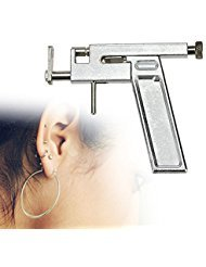 (Funwill Professional Stainless Steel Body Ear Pen Piercing Nose Navel Safety Tool Trigger Kit Set Medical Devices Hole Personal Care Man Women Girls)