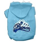 Mirage Pet Products I'm a Prince Screen Print Pet Hoodies, Baby Blue, Large from Mirage Pet Products