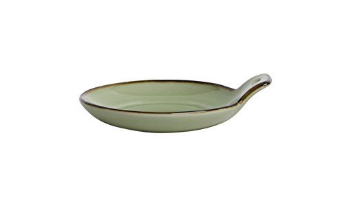 Oneida Foodservice F1463067109 Studio Pottery Celadon,9 inch 9 inch, Set of 48, Round Cocktail Plate
