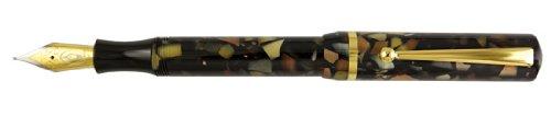 Edison Beaumont Bedrock Flake with Steel Nib Fine Point Fountain Pen - ED-BEAU-BF-F