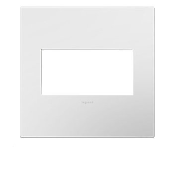 Legrand Adorne Gloss White on White Backplate, 2-Gang Wall Plate AWP2GWHW10, 10 Pack