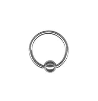 One 12g Captive Bead Rings-Basic Stainless Steel Captive Ring Earrings-12 gauge Nipple Rings (Captive Bead Ring Basic)