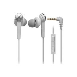 Audio Technica ATH-CKS55i WHITE | SOLID BASS Inner Ear Headphones with Microphone for iPod/iPhone/iPad (Japan Import) by audio-technica