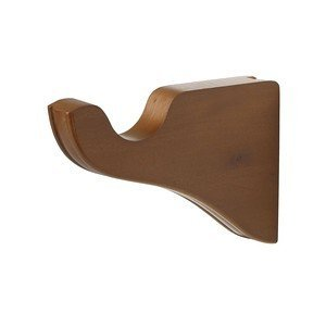 Support bracket for a 1-3/8 wood pole - 1 pair (Walnut) by -