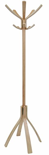 ALBA Wooden Floor Coat Stand, Light Brown (PMCAFEC) Designer Wood Market Umbrella