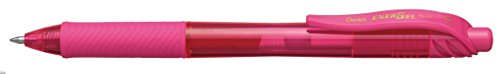 Pentel EnerGel-X Retractable Liquid Gel Pen (0.7mm) Metal Tip, Pink Ink, Box of 12 (BL107-P) (Pen Pentel Metal)