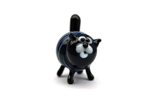 (Glass Cat Figurine Hand-Blown Collectible Art Glass Glass Cat Sculpture Glass Cat Figurine Homedecor Murano Art Gifts Miniature Blown Cats )
