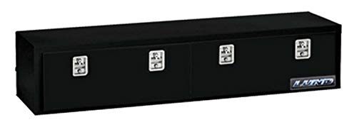 Lund 76172 72-Inch 16-Gauge Steel Top Rail Mount Box, Black
