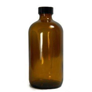 qorpak-glc-02012-boston-round-bottle-with-33-400-black-phenolic-polycone-lined-cap-32-oz-amber-pack-