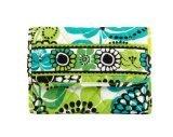 Vera Bradley Euro Wallet Clutch Purse Handbag in Lime