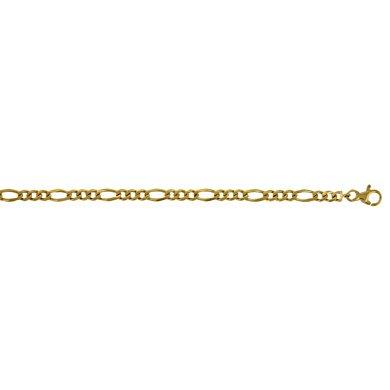 Or jaune 14 carats 4,8 mm-Figaro Bracelet JewelryWeb - 18,4 cm