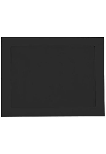 9 x 12 Full Face Window Envelopes - Midnight Black (50 Qty) | Perfect for Head Shots, Annual Reports, Brochures, Head Shots, Magazines, Invitations | FFW-912-B-50