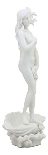 Pacific Trading Ebros Gift Birth of Venus Statue Inspired by Botticelli Figurine of Aphrodite Making Up The Uffizi Museum Decor Sculpture Greek Roman Gods and Goddesses Theme