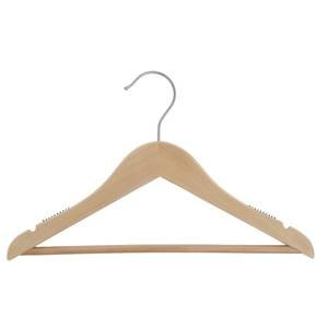 14'' Natural Wooden Hanger, Suit, 100 per set by Retail Resource