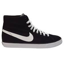 Nike Primo Court Mid bootie shoes canvas man Black White (Black White, 44)