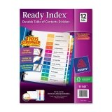 Avery 11141 Ready Index TOC Dividers, Tabs 1-12, Letter Size, Color, 12 Tabs/ST ()
