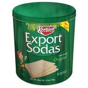 Keebler Export Sodas Crackers, 28 oz (Pack of 4) by Unknown
