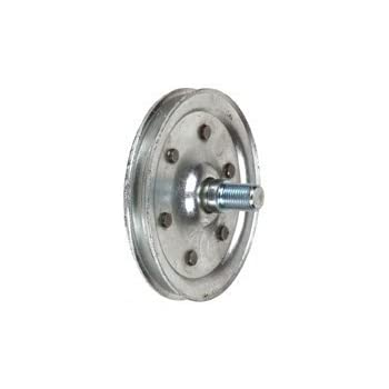 garage door pulley wheel4 Inch HeavyDuty Galvanized Steel Garage Door Pulley   Amazoncom