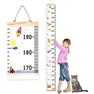 Chart Wall Hanging Growth - Wall Ruler Growth Chart Wood and Canvas | Baby Growth Chart for Boys and Girls | Space-Inspired Cartoon Patterns | Ready to Hang | 79 Inches x 7.9 Inches | Great for Nurseries, Bedrooms, Wall Decor