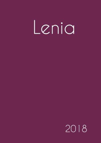 Download 2018: Namenskalender 2018 - Lenia - DIN A5 - eine Woche pro Doppelseite (German Edition) ebook