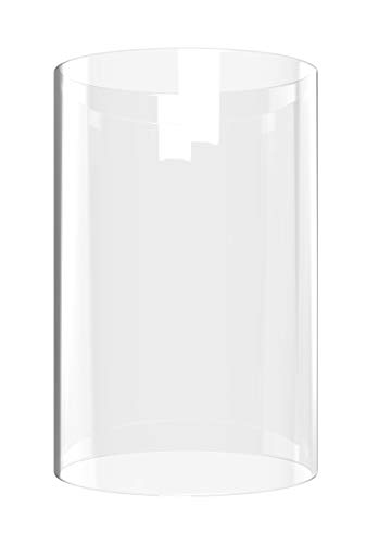 "Tall Glass Cylinder Vase - Cylinder Glass Vase Open End 4.7"" 6"" Piece for Coffee Tables OR Side Tables- Light Sconces"