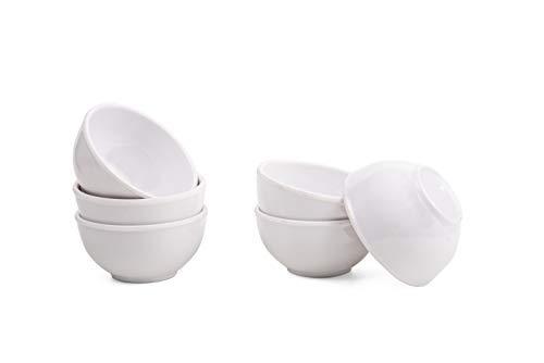 MEHUL melamine Solid Plain Bowl   120ml, Set of 6, White
