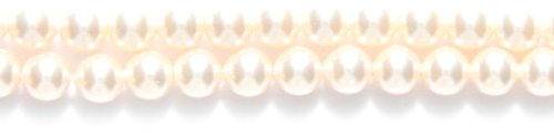 Swarovski 5810 Crystal Round Pearl Beads, 5mm, Cream Rose, 50-Pack ()