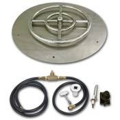 30 Inch Round Stainless Steel Flat Fire Pit Burner Pan - Natural Gas by American Fireglass