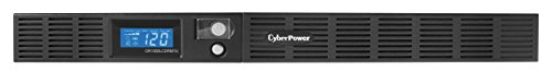 CyberPower OR1000LCDRM1U Smart App LCD UPS System, 1000VA/600W, 6 Outlets, AVR, 1U Rackmount