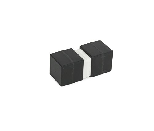 Rare Earth Magnets 0.125 - Unbreakable Plastic-Coated N52 Neodymium Cube Magnets, Waterproof, 1 x 1 x 1 Inch. 2-Pack. Revitalizaire Strong Permanent NdFeB Rare Earth Magnets Coated with Hard Black Polypropylene