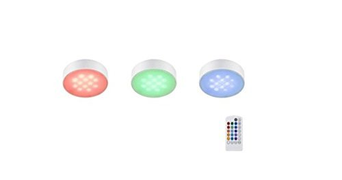 3-led Puck lights with remote by Commercial Electric