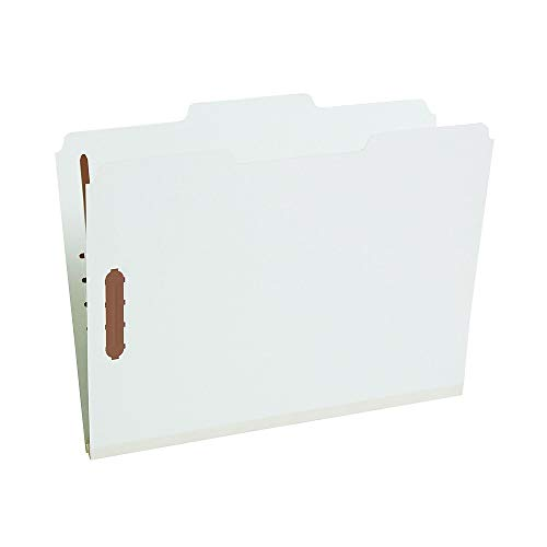 Staples 811436 Gray/Green Pressboard Fastener Folders Letter 3 Tab 1
