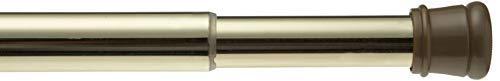 Ben & Jonah Steel Shower Curtain Tension Rod in Brass, Adjustable Standard Size 41
