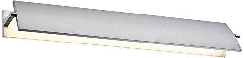 Sonneman 2702.16, Aileron Wall Vanity Lighting, 1 Light LED, Aluminum (Sonneman Silver Sconce)