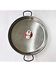 Polished Steel Valencian paella pan 20Inch / 50cm /13 Servings