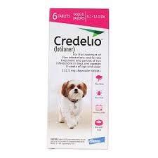 CREDELIO Pastilla ANTIPULGAS Y GARRAPATAS Perro 2,5-5,5 KG: Amazon.es: Productos para mascotas