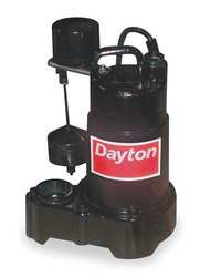 Dayton 3BB70 Pump, Sump, 1/3 HP